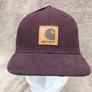New Maroon Carhartt Canvas Baseball Hat
